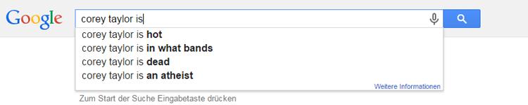 corey taylor auf google