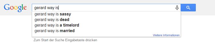 Gerard Way auf Google