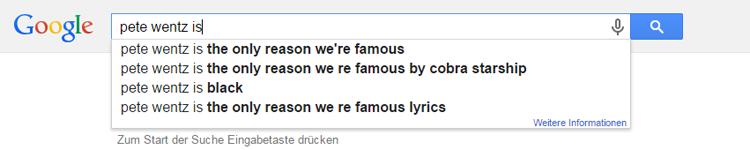 pete Wentz Google